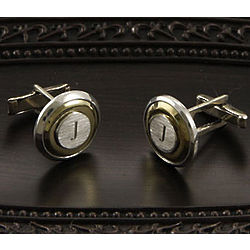 Personalized Two-Tone Round Cufflinks