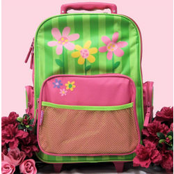 Flower Rolling Luggage Bag
