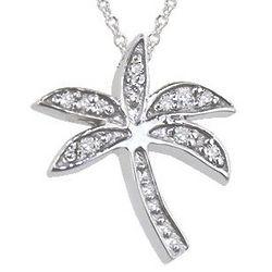 Palm Tree Pendant with Diamonds