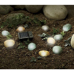 Garden Accent Lighted Solar Rocks