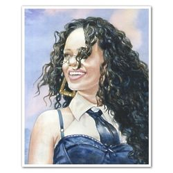 Rihanna Watercolor Print