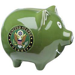 Green Army Piggy Bank