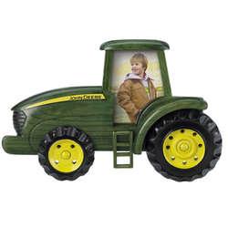 Wooden John Deere Tractor Picture Frame