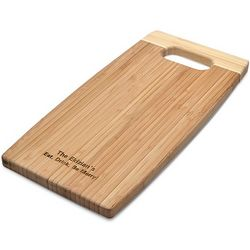 Bamboo Wood Personalized Cutting Board