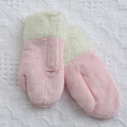 Baby Girl's Pink Winter Mittens