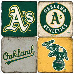 Property of Oakland Athletics Marble Coaster Set