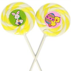Lemon Flavored Easter Whirly Pops