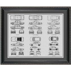 Fiat Blueprint Collection Framed Print