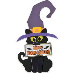 12 Halloween Cat Doorknob Hanger Craft Kits