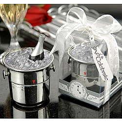 Champagne Bucket Timer Wedding Favor
