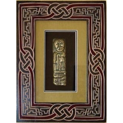 The White Island Figure in Celtic Carved Frame