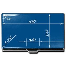 Blueprint Business Card Case