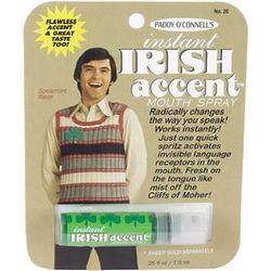 Instant Irish Accent Breath Spray