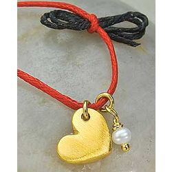 Heart Charm and Pearl Necklace