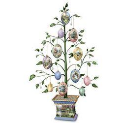 Thomas Kinkade Easter Blessings Heirloom Porcelain Egg Tree