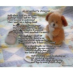 A Mother's Prayer for a Boy 8x10 Print