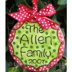Personalized Polka Dot Family Ornament