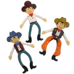 Bendable Assorted Cowboy Toys