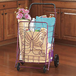Purple Butterfly Shopping Cart