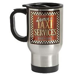 Personalized Taxi Service Travel Mug