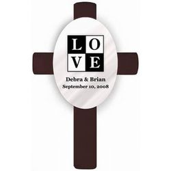 Love Personalized Wedding Cross