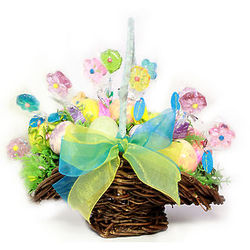 Twinkle Flower Easter Egg and Lollipop Basket