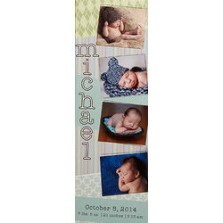 Scrapbook Memories Personalized Baby Photo Canvas Print