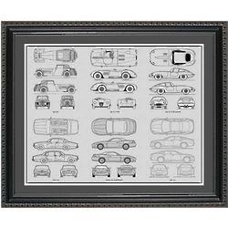 Jaguar Blueprint Collection Framed Print