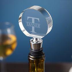 Personalized Oakmont Optic Crystal Wine Stopper