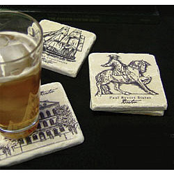 Boston Marble Coaster Set