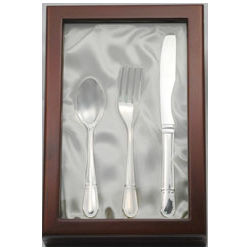 Personalized Silver Plated Utensil Set