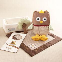 """My Little Night Owl"" Five-Piece Baby Gift Set"