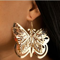 Cute Butterfly Layered Medallion Earrings