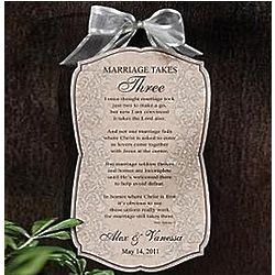 Personalized Marriage Takes Three Plaque