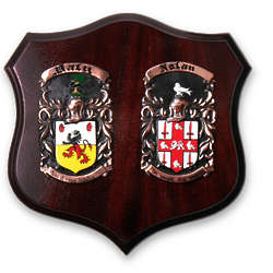 Deluxe Double Family Crest Plaque