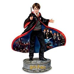 Magic Of Harry Potter Figurine with Montage Art Wizard Robe