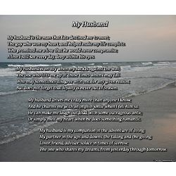 My Husband 8x10 Poem Print