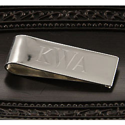 Personalized Classic Sterling Silver Money Clip