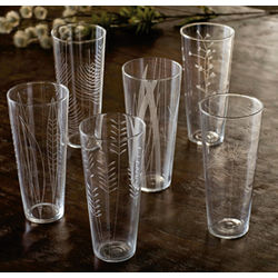 Etched Botanical Brunch Glasses