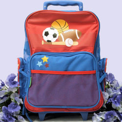 Kids Sports Themed Rolling Luggage Bag