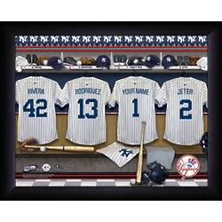 Personalized MLB Locker Room Print