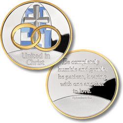United in Christ Silver Medallion Keepsake Coin