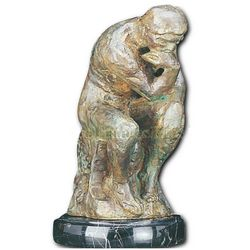 Thinker Statue on Marble Base