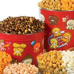 Popcorn Pals Almond Pecan Popcorn Tin