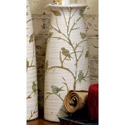 "Birds on Branches 6"" Diameter Vase"