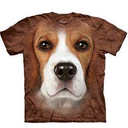 Beagle Oversized Dog Face Shirt