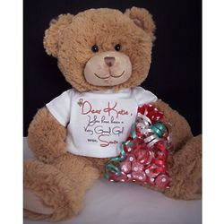 Personalized Teddy Bear from Santa