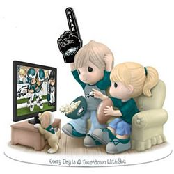 Every Day is a Touchdown with You Eagles Figurine