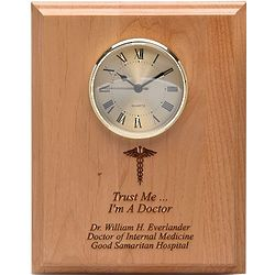 Trust Me - I'm A Doctor Wall Clock Plaque