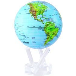 Automatic Rotating Blue Green Globe